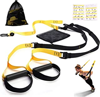 Futureup Sea Area Sports Bodyweight Fitness Resistance Trainer Kit - Complete Training Straps Kit for Full Body Strength - Easy Quick Setup for Home, Gym Outdoors Workouts