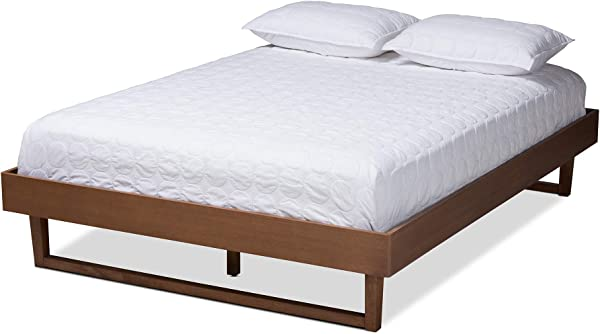 Baxton Studio 156 9410 AMZ Bed Frame Double Brown