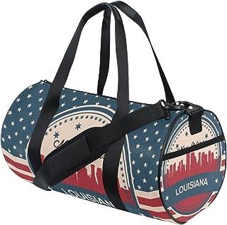 12001bddcea8 Vintage American Flag Louisiana State New Orleans Skyline sports Bags