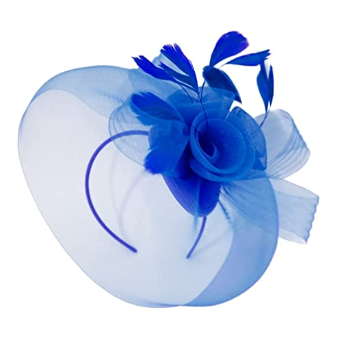 e1a079a916 Caprilite Wedding Races Party Fascinator Veil Net Hat With Cones and  Feathers Hatinator