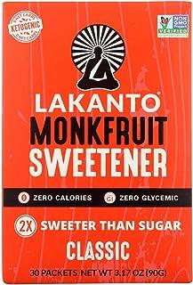 Lakanto Sugar Free Classic Monkfruit Sweetener, 3.17 Ounce - 30 per pack - 8 packs per case., 3.17 Ounce (Pack of 8)