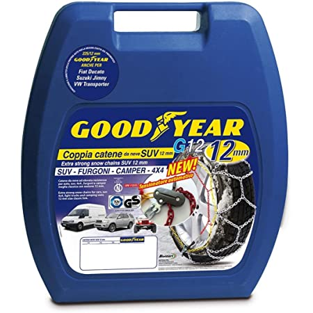 """Goodyear 77932 """"12mm"""" Chaines à neige 12 mm, Taille 230, Convient pour les SUV, véhicules utilitaires, 4x4, Homologation TUV et ÖNORM"""