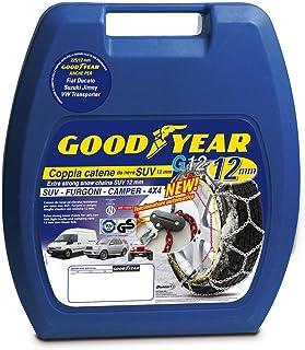 Goodyear 77932, 12 mm högkvalitativa passagerarbil snökedjor, TUV och ONORM godkända, storlek 230. Lämplig för SUV, skåpbi...