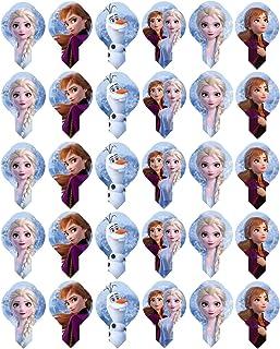 Frozen 2 Modecor 30x para Ventiladores CONGELADOS 2 decoración de Pastel de Magdalenas Precortadas Listas para Usar Formas de obleas. 72217. Producto con Licencia.