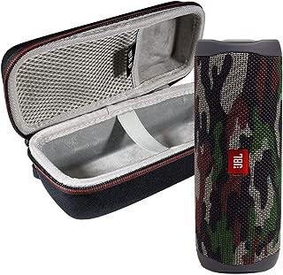 JBL FLIP 5 Portable Speaker IPX7 Waterproof On-The-Go Bundle with WRP Deluxe Hardshell Case (Green Camo)
