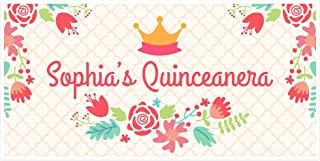 Princess Quinceanera Personalized Birthday Banner