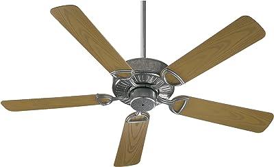 """Quorum International 143525-9 Estate Patio Fan, 52"""", Galvanized"""