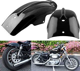 TESWNE Custom Black Rear Fender Mudguard For Motorcycle Cruiser Chopper Bobber Café Racer for Honda Shadow for Yamaha V Star