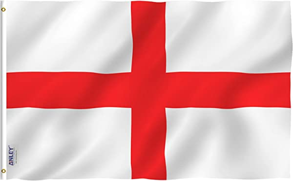 Anley Fly Breeze 3x5 Foot England Flag Vivid Color And UV Fade Resistant Canvas Header And Double Stitched English National Flags Polyester With Brass Grommets 3 X 5 Ft