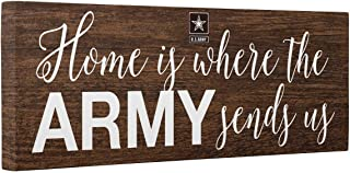 Home Is Where Army Sends Us Faux Wood CANVAS Wall Art