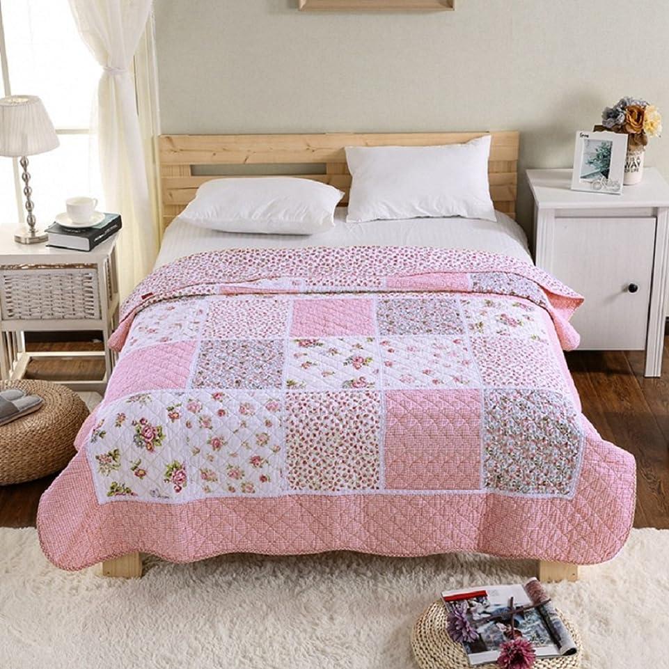結婚式つなぐトランスペアレントgardenlightess ベッドカバー ベッドスプレッド 可愛い 花柄 綿100% 上品 おしゃれ 150X200cm 花柄 四季通用 洗濯可能