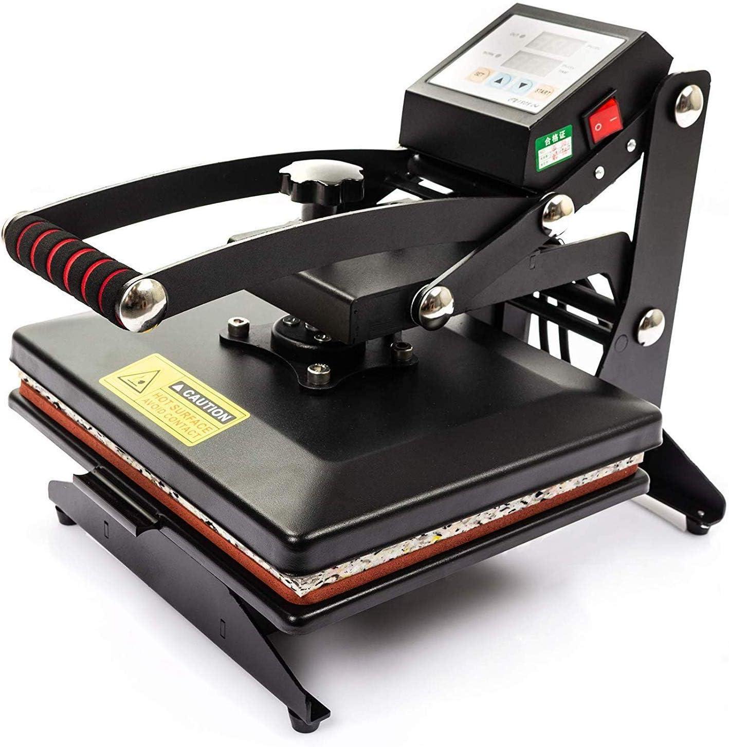 Display4top Prensa de Calor Maquina de Prensa de Calor Máquina de la sublimación de la transferencia de la prensa del calor de la camiseta, uso para industrial, profesional y casero (25cm x 30cm)