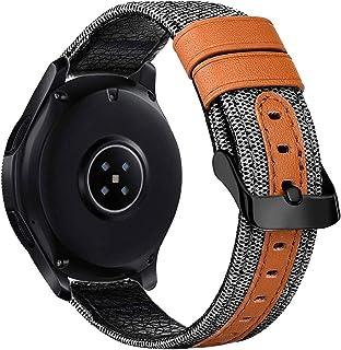 iBazal Galaxy Watch 46 mm remmar 22 mm duk tyg armband klockarmband kompatibel med Samsung Gear S3 Frontier Classic, Huawe...