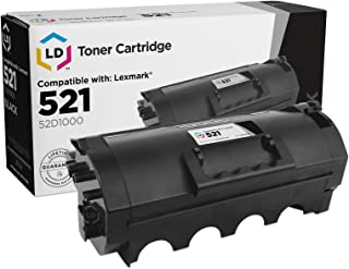 LD Compatible Toner Cartridge Replacement for Lexmark 521 52D1000 (Black)