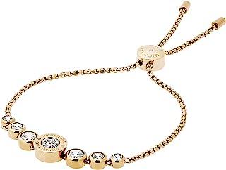 Logo Gold-Tone and Jet Set Crystal Slider Bangle Bracelet
