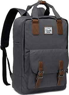 School Backpack for Men and Women,VASCHY Unisex Vintage Water Resistant Casual Daypack Rucksack Bookbag for College Fits 15inch Laptop Backpack Dark Gray