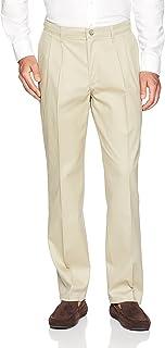 سروال Lee رجالي كاجوال مطبوع عليه Total Freedom مطاطي ومريح ذو ثنيات من الأمام