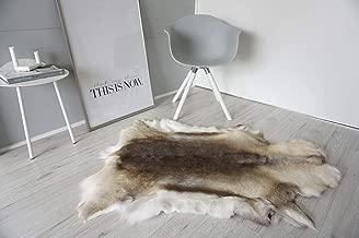 MILABERT Genuine Super Soft - Extra Large Scandinavian Reindeer Skin - Rug | Hide | Pelt - RE 353