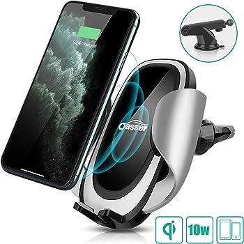 Myrado Automatique Chargeur sans Fil Voiture Support de Charge Rapide pour iphone XR XS XS Max 8//8Plus Huawei P30Pro Mate20Pro Argent
