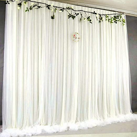 Atongham Lavender Tulle Chiffon Backdrop for Bridal Shower Wedding Ceremony Backdrops Curtains Newborn Baby Shower Backdrop Photo Booth Background Photography