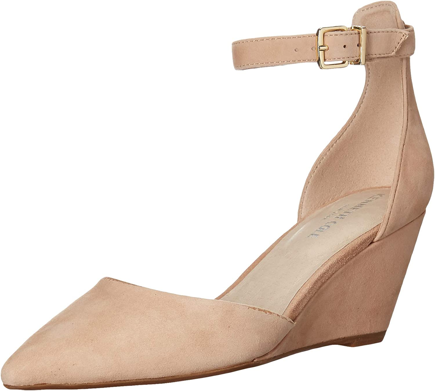 Kenneth Cole New York Womens Ellis Wedge Pump with Ankle Strap Pump