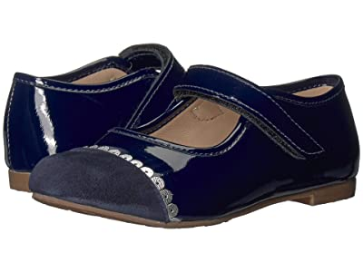 Elephantito Mary Jane with Lace (Toddler/Little Kid) (Blue) Girl