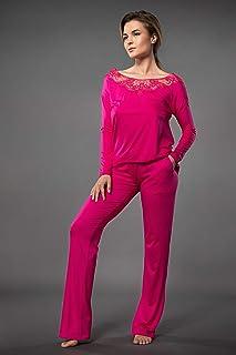 TOP encaje TOPS Mujer Camiseta Mujer Sexy TOP Lencero Suave Comodo y Agradable Suéter Mujer Confortable Camiseta Manga Lar...