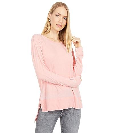 Mod-o-doc Burnout Wash Jersey Long Sleeve Drop Shoulder Tee (Peach Blossom) Women