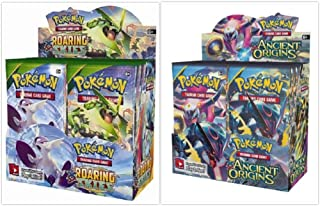 Pokemon Ancient Origins Booster Box and Roaring Skies Booster Box Bundle, 1 of Each