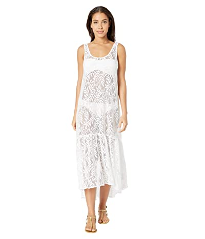 Lilly Pulitzer Camellia Cover-Up (Resort White Swirling Leaf Lilly Lace) Women