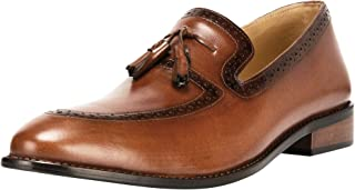 Liberty Men's Leather Handmade Tassel Loafer Slip On Dress Shoes