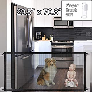 GeiGei Pet Safety Gate for Dog, Portable Folding Mesh Magic Gate, Safe Guard Install Anywhere 71