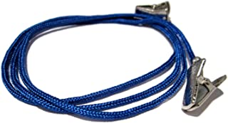 ATLanyards Blue Eyeglass Holder with Clips, Blue Paracord Clip Eyeglass Lanyard, Clips 351
