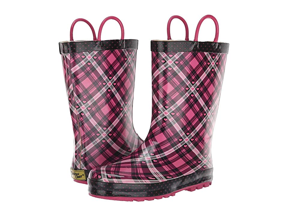 Western Chief Kids Limited Edition Printed Rain Boots (Toddler/Little Kid) (Pink Punky Plaid) Girls Shoes