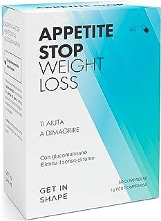 APPETITE STOP - pillole dimagranti soppressori dell'appetito con glucomannano (1000mg/pastiglia) dalla radice del konjac -...