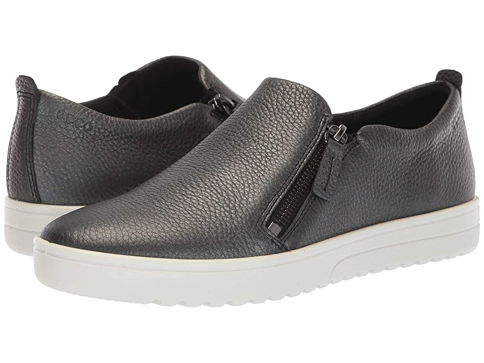 ECCO Fara Zip (Black/Dark Silver Cow Leather/Cow Leather) Women