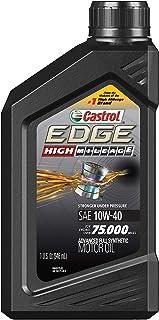 Castrol 06171 Edge High Mileage 10W-40 Advanced Full Synthetic Motor Oil, 1 Quart, 6 Pack