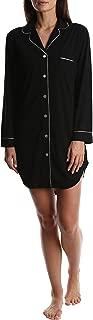 Women's Long Sleeve Button Down Sleep Shirt - Ladies Lounge & Sleepwear Nightshirt