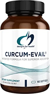 Designs for Health Curcum-Evail - Bioavailable Turmeric Curcumin Supplement - Patented Formula for Superior Absorption, Tr...