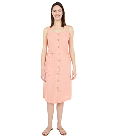 Rip Curl Tallows Spot Midi Dress (Coral) Women