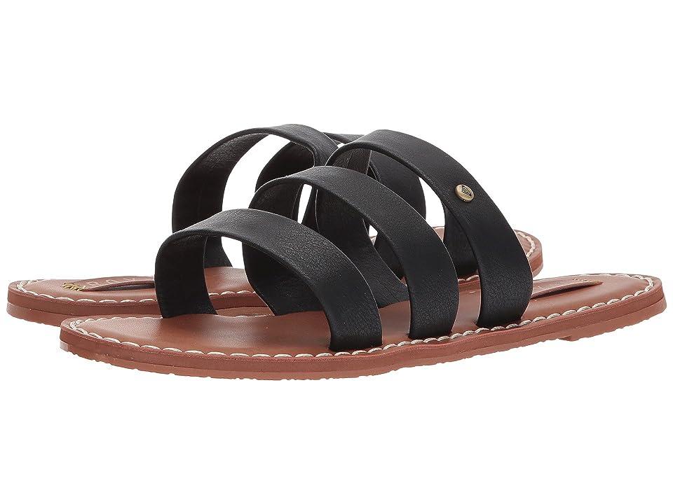 Roxy Sonia Three Strap Sandals (Black) Women