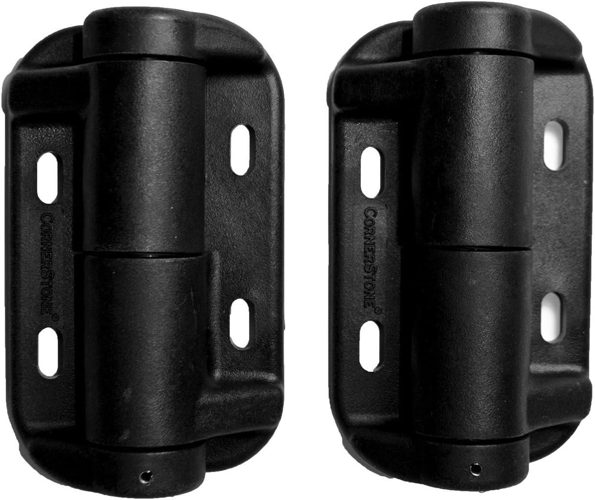 Cornerstone Inexpensive Black Adjustable Hinges for No Sale Special Price Fencing Al Aluminum