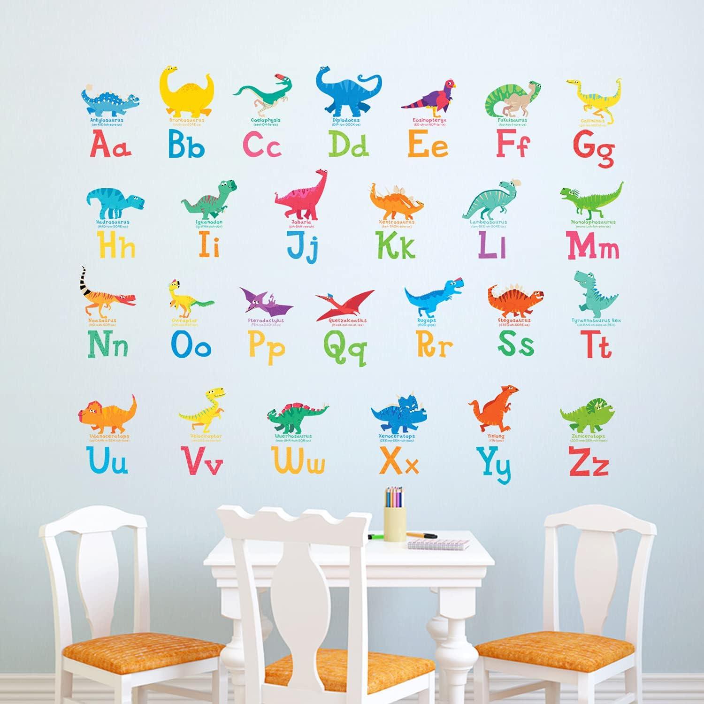 DECOWALL 55% OFF DW-1803 A-Z Dinosaur Alphabet Max 86% OFF Kids D Wall Stickers