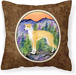 Caroline's Treasures SS8225PW1414 Italian Greyhound Decorative Canvas Fabric Pillow, 14Hx14W, Multicolor
