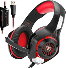 SVYHUOK USB Gaming Headset PC with Stereo 7.1 Channel Virtual Surround Sound Computer Laptop Mac Gaming Headphones Over-Ea...