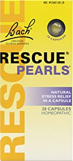 Bach Rescue Pearls, Homeopatic Stress Relief - 28 Capsules