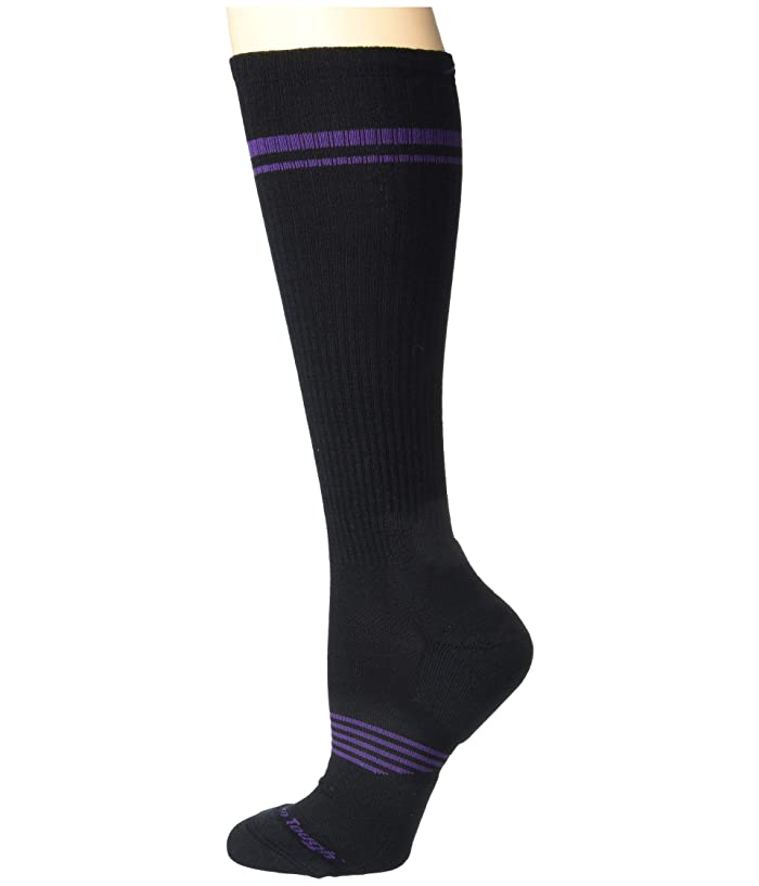 Darn Tough Vermont  Element Over the Calf Lightweight with Cushion with Graduated Light Compression (Black) Womens Crew Cut Socks Shoes