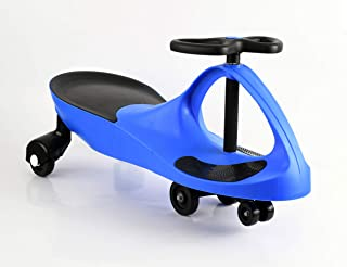 Apelila Wiggle Car Twistcar Roller Ride On Play Swing Vehicle Outdoor, for Kid Child (Blue 2)