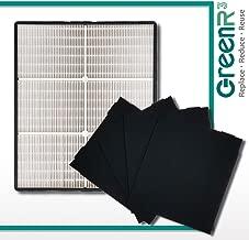 GreenR3 Air Purifier True HEPA Air Filter + 4 Replacement Carbon Filters for Whirlpool 1183054 1183054K 83375 83376 AP45030K AP51030K fits AP-300 and more