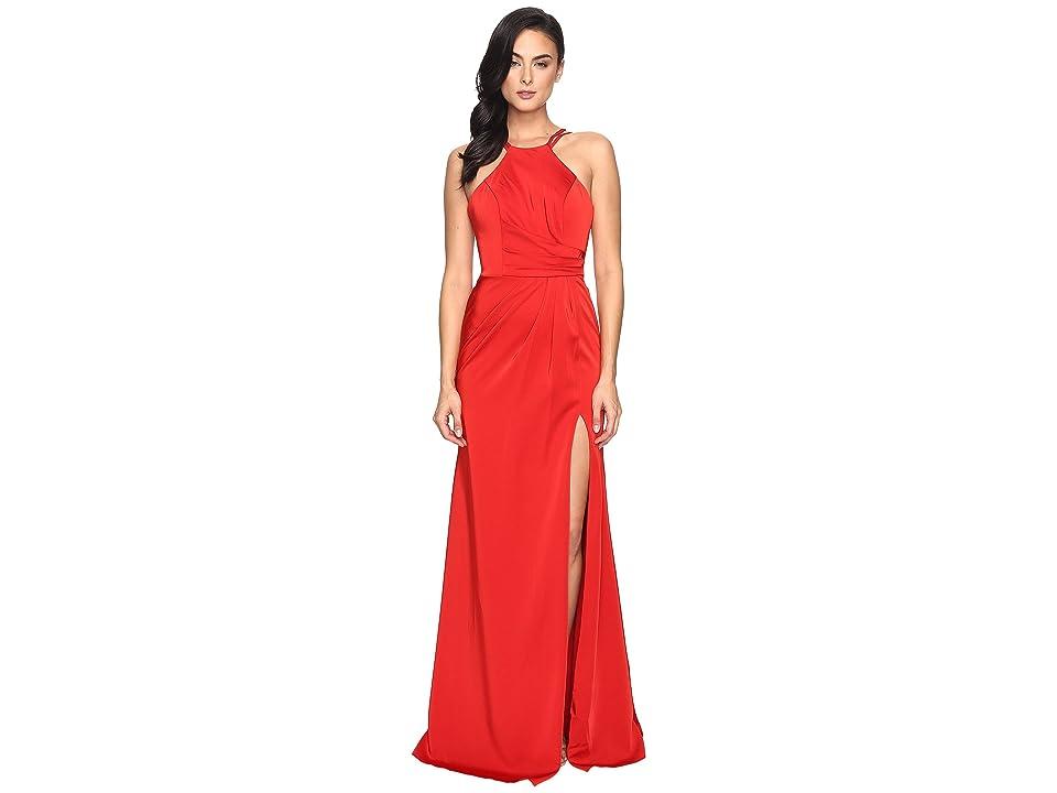 Faviana Faille Satin Halter 7904 (Red) Women